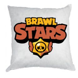 Подушка Brawl Stars logo orang and yellow