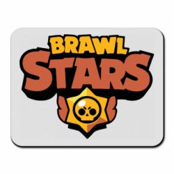 Коврик для мыши Brawl Stars logo orang and yellow