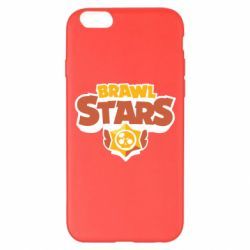 Чехол для iPhone 6 Plus/6S Plus Brawl Stars logo orang and yellow