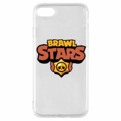 Чехол для iPhone 7 Brawl Stars logo orang and yellow
