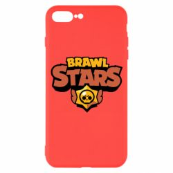 Чехол для iPhone 7 Plus Brawl Stars logo orang and yellow