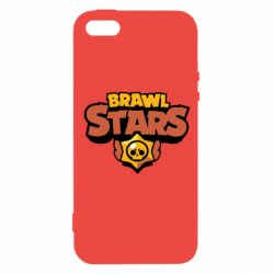 Чехол для iPhone5/5S/SE Brawl Stars logo orang and yellow