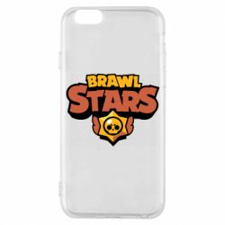 Чехол для iPhone 6/6S Brawl Stars logo orang and yellow