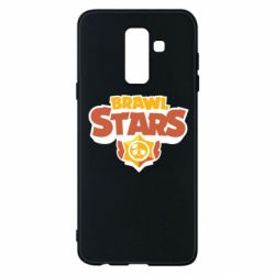 Чехол для Samsung A6+ 2018 Brawl Stars logo orang and yellow