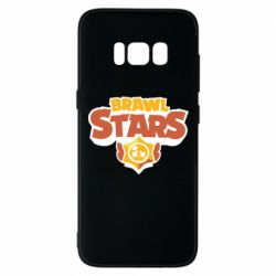 Чехол для Samsung S8 Brawl Stars logo orang and yellow