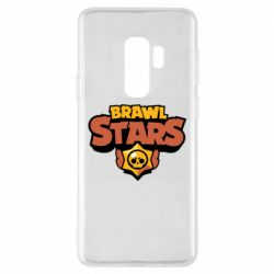 Чехол для Samsung S9+ Brawl Stars logo orang and yellow