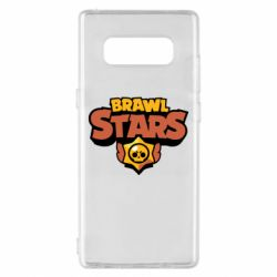 Чехол для Samsung Note 8 Brawl Stars logo orang and yellow