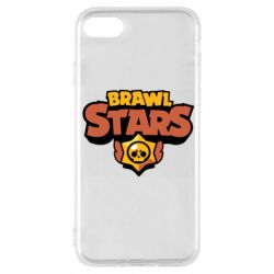 Чехол для iPhone 8 Brawl Stars logo orang and yellow