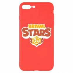 Чехол для iPhone 8 Plus Brawl Stars logo orang and yellow