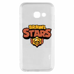 Чехол для Samsung A3 2017 Brawl Stars logo orang and yellow