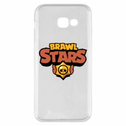 Чехол для Samsung A5 2017 Brawl Stars logo orang and yellow