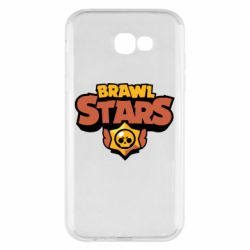 Чехол для Samsung A7 2017 Brawl Stars logo orang and yellow