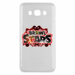 Чехол для Samsung J5 2016 Brawl stars logo red pattern