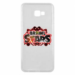 Чехол для Samsung J4 Plus 2018 Brawl stars logo red pattern