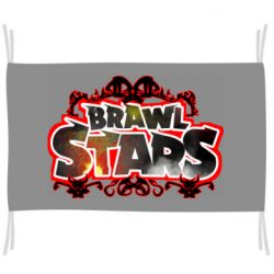 Флаг Brawl stars logo red pattern