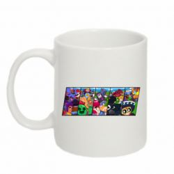 Кружка 320ml Brawl Stars pieces of photo
