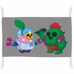 Прапор Brawl stars Spike and sprout