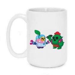 Кружка 420ml Brawl stars Spike and sprout