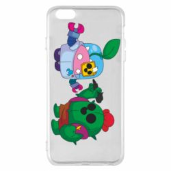 Чохол для iPhone 6 Plus/6S Plus Brawl stars Spike and sprout