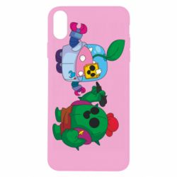 Чохол для iPhone X/Xs Brawl stars Spike and sprout