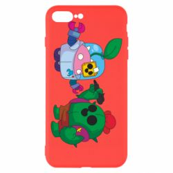 Чохол для iPhone 8 Plus Brawl stars Spike and sprout
