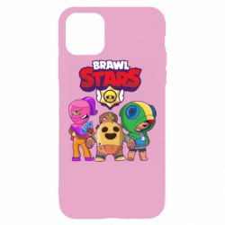 Чехол для iPhone 11 Pro Max Brawl Stars three characters from the game