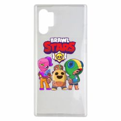 Чехол для Samsung Note 10 Plus Brawl Stars three characters from the game