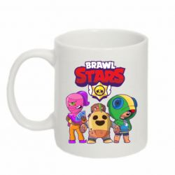 Кружка 320ml Brawl Stars three characters from the game