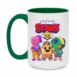Кружка двухцветная 420ml Brawl Stars three characters from the game
