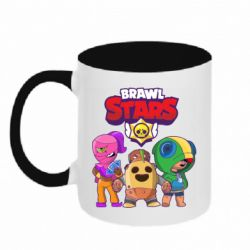 Кружка двухцветная 320ml Brawl Stars three characters from the game
