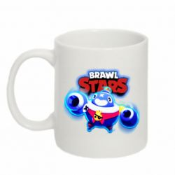 Кружка 320ml Brawl stars Tick ​​with glow