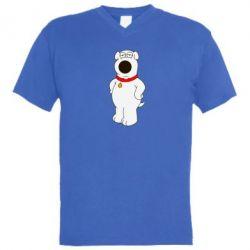 Мужская футболка  с V-образным вырезом Брайан Гриффин - FatLine