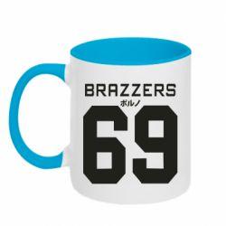 Кружка двухцветная 320ml Brazzers 69