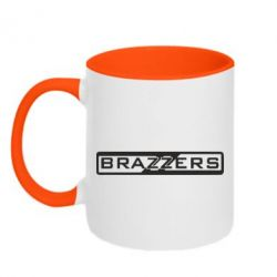 Кружка двухцветная 320ml Brazzers Logo