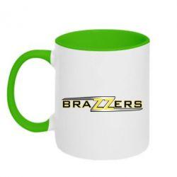 Кружка двоколірна 320ml Brazzers new