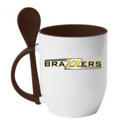 Кружка з керамічною ложкою Brazzers new