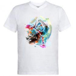 Мужская футболка  с V-образным вырезом Брэйк Арт