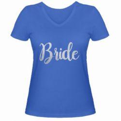 Жіноча футболка з V-подібним вирізом Bride