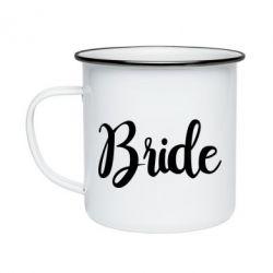 Кружка емальована Bride