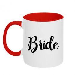 Кружка двоколірна 320ml Bride