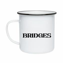 Кружка емальована Bridges