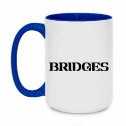 Кружка двоколірна 420ml Bridges