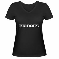 Женская футболка с V-образным вырезом Bridges