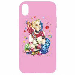 Чехол для iPhone XR Bright Harley Quinn Vector