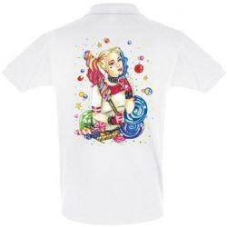 Мужская футболка поло Bright Harley Quinn Vector