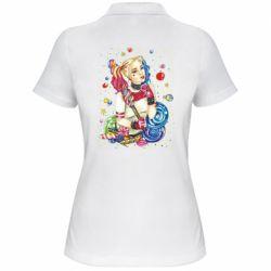 Женская футболка поло Bright Harley Quinn Vector