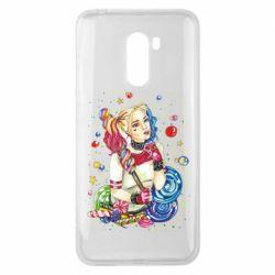 Чехол для Xiaomi Pocophone F1 Bright Harley Quinn Vector