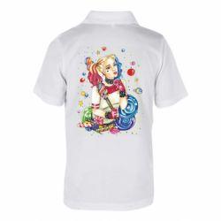 Детская футболка поло Bright Harley Quinn Vector