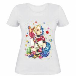 Женская футболка Bright Harley Quinn Vector