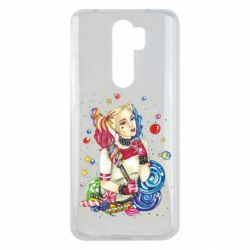 Чехол для Xiaomi Redmi Note 8 Pro Bright Harley Quinn Vector